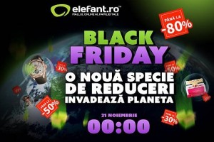 Banner Elefant.ro Black Friday