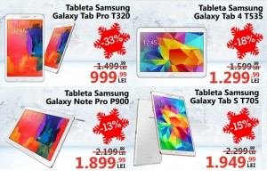 Samsung Crazy Days la eMAG Tablete