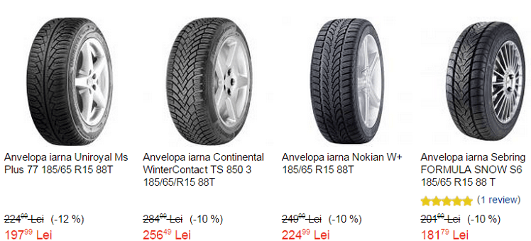 Promotii anvelope auto eMAG