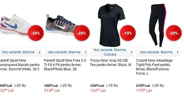 Articole sport Nike la eMAG pentru fitness