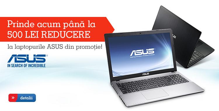 Promotie laptopuri Asus eMAG