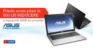 Laptopuri Asus la promotie din partea eMAG