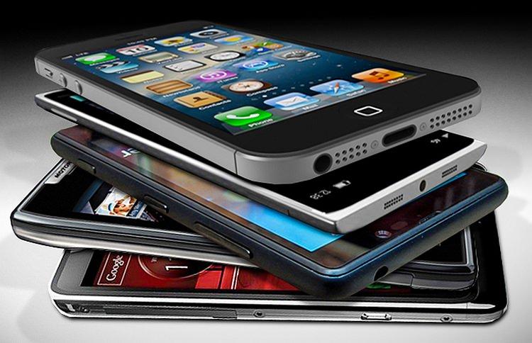 Stiva telefoane mobile inteligente