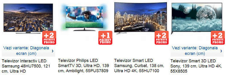 Televizoare Ultra HD 4K eMAG