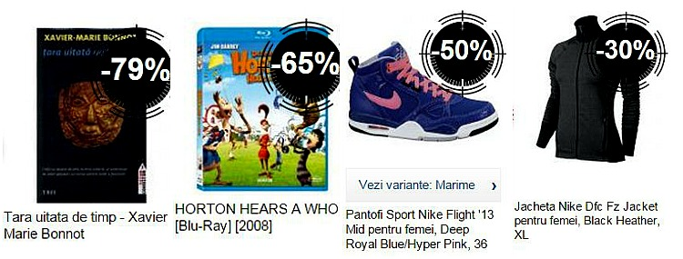 Lichidari de stoc la eMAG carti filme Nike