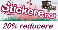20% reducere Stickere.net