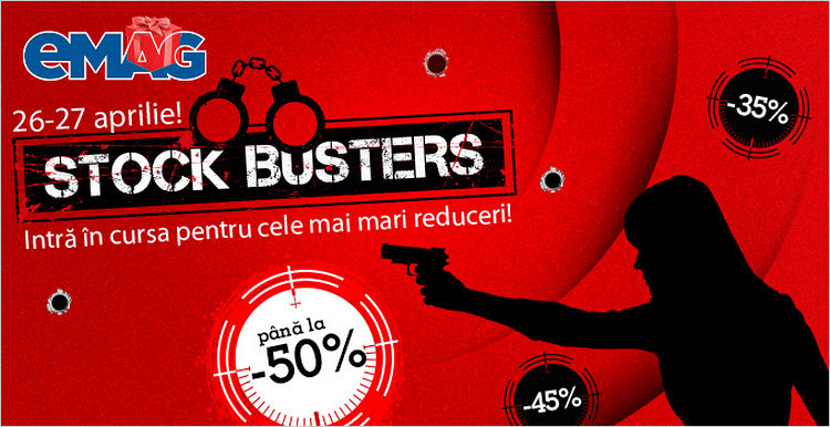 eMAG Stock Busters aprilie 2015