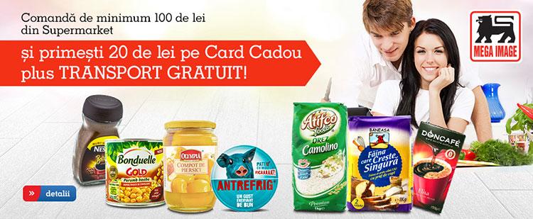 Card cadou in eMAG Supermarket