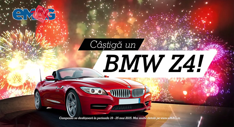 Castiga un BMW Z4 cu eMAG