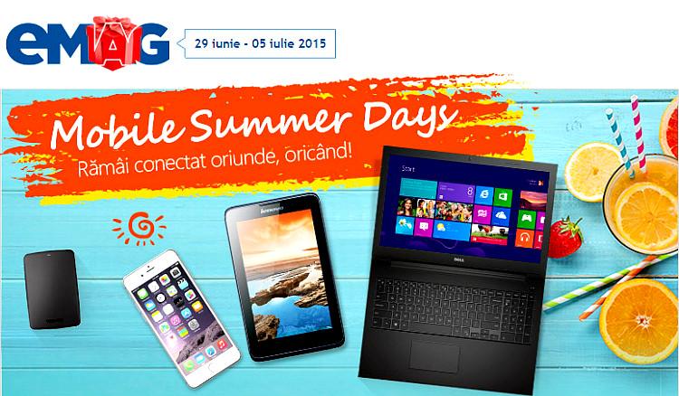 Mobile Summer Days la eMAG
