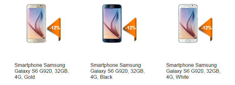 Oferta Samsung Galaxy S6 la Elefant