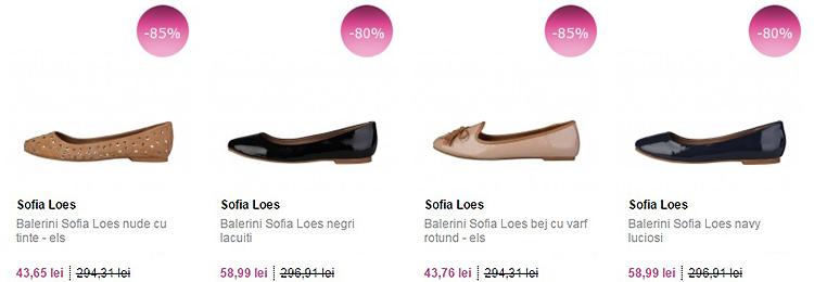 Oferte la balerini Sofia Loes FashionUP!