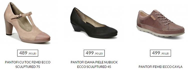 Pantofi dama extra reduceri la Ecco Shoes