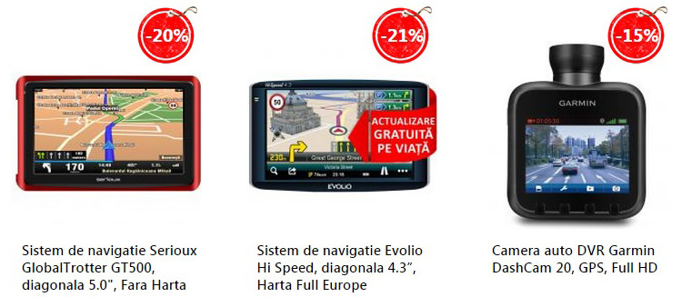 GPS camere auto eMAG