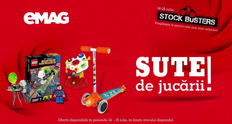 eMAG jucarii Summer Stock Busters