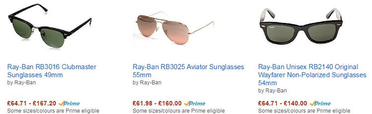 Ochelari soare Ray-Ban Amazon UK