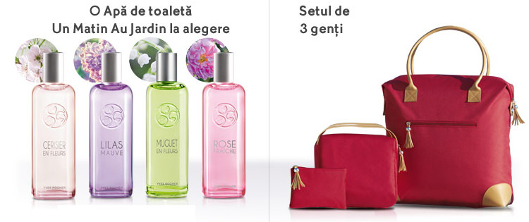 Parfumuri set trei genti Yves Rocher