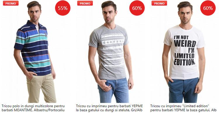 Promotii tricouri barbatesti eMAG Fashion Summer Sales