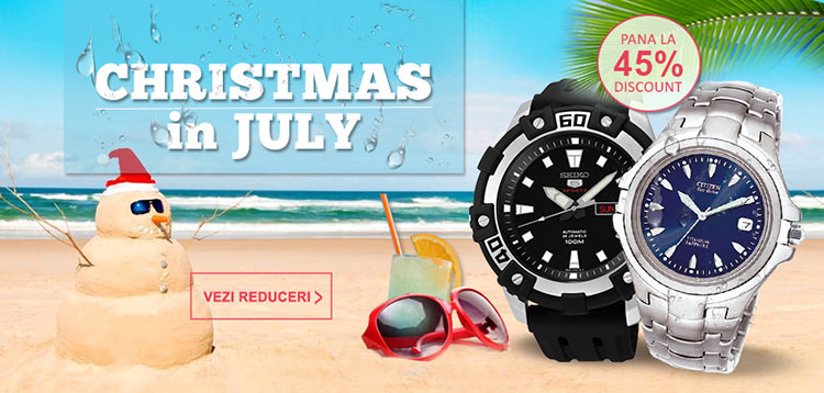 Reduceri la WatchShop Christmas in July