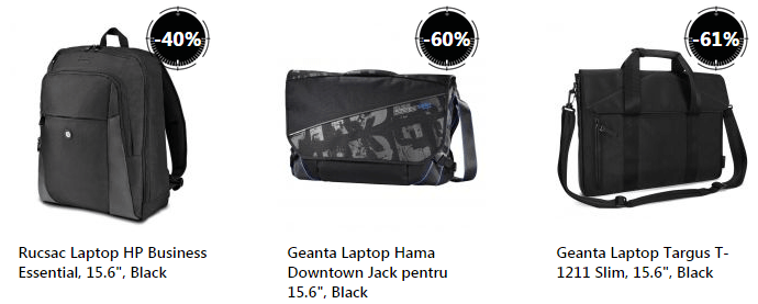 Genti laptop Stock Busters eMAG
