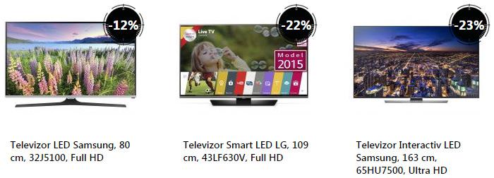 Oferta televizoare Stock Busters eMAG