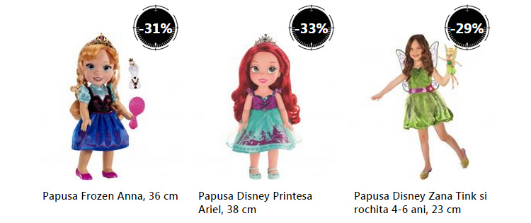 Papusi personaje Disney Stock Busters eMAG
