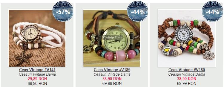 Ceasuri promotie VintageTime