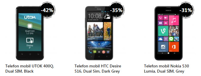 Telefoane Mobile eMAG Stock Busters august 2015