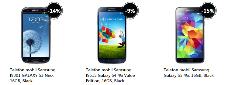 Telefoane Samsung Galaxy S3 S4 S5 Reduceri Stock Busters eMAG