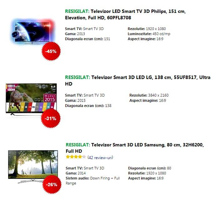 Televizoare Ziua Resigilatelor eMAG