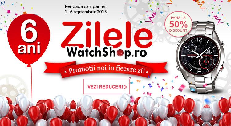 Campanie cu promotii la WatchShop