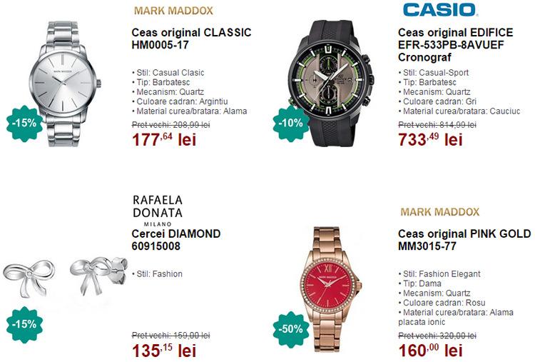Ceasuri bijuterii promotie WatchShop