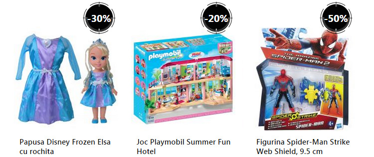 Oferta jucarii Stock Busters septembrie 2015 eMAG