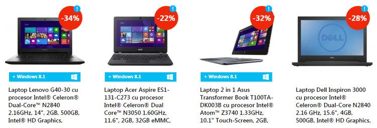 Laptopuri eMAG Revolutia Preturilor septembrie