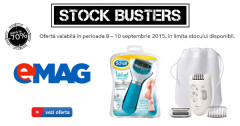 Stock Busters septembrie 2015 eMAG ingrijire personala