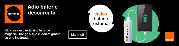 Baterie externa Power up cadou de la Orange