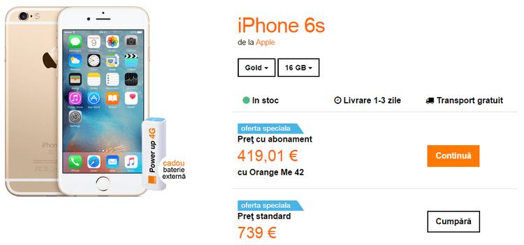 Orange Apple iPhone 6s