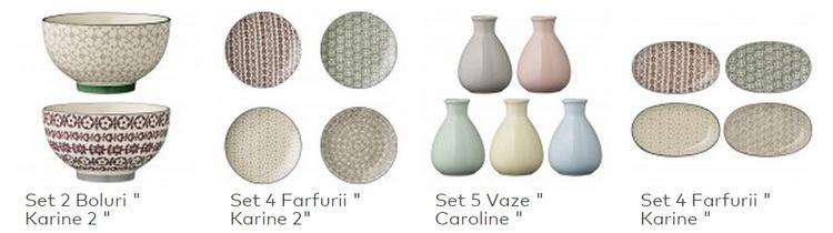 Seturi decoratiuni SomProduct vase boluri vaze farfurii