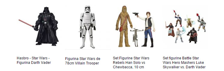 Oferta eMAG figurine Star Wars