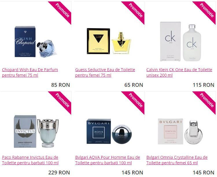 Promotii parfumuri firma Aoro