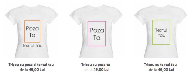 variante tricouri personalizate Tiparo