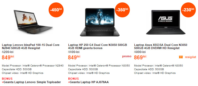 Laptopuri ieftine Cel.ro