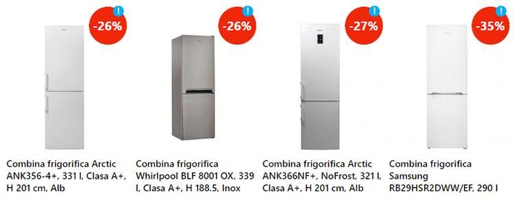 Combine frigorifice reducere eMAG