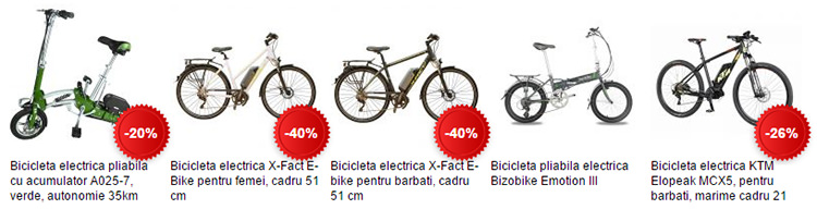Biciclete electrice eMAG