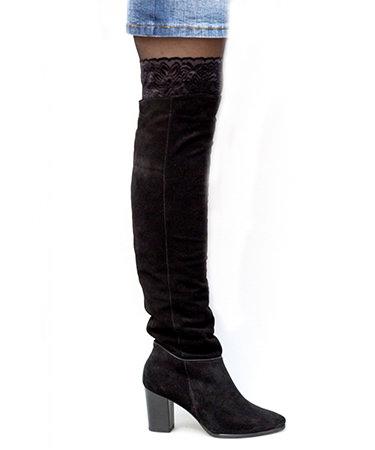 Cizme peste genunchi piele intoarsa Thea Visconti FashionUP