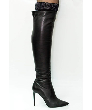 Cizme peste genunchi toc cui Thea Visconti FashionUP
