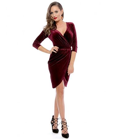 Rochie catifea petrecuta Roserry FashionUP