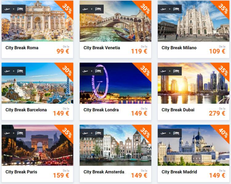 Destinatii city break 2017 de la Vola