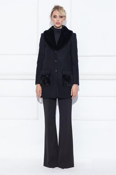 NISSA palton dama negru