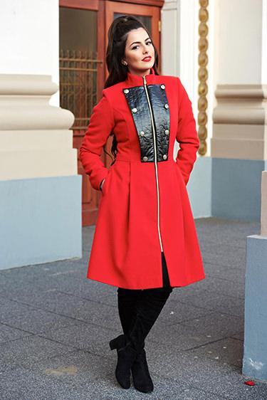 StarShinerS palton dama rosu